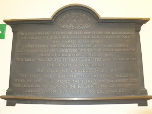 Buick Mem School Plaque